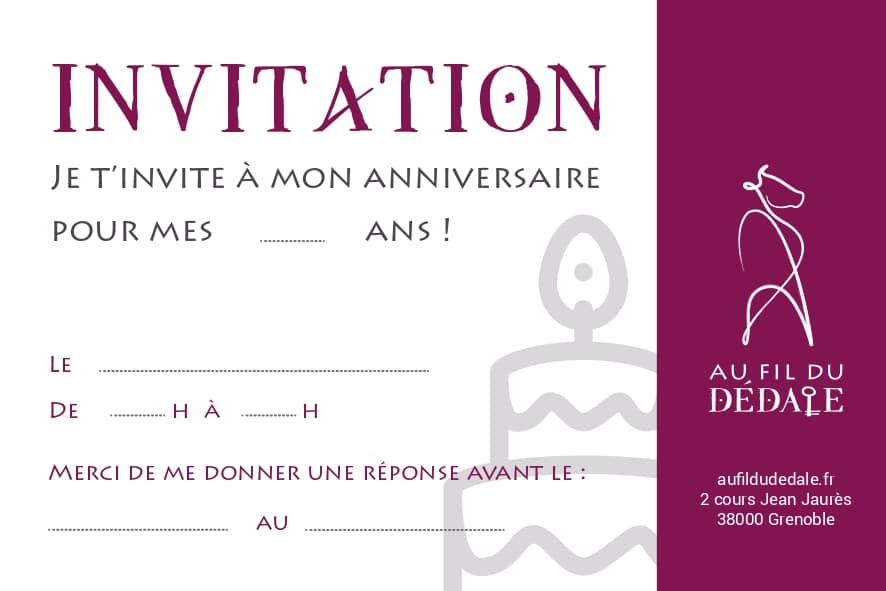Carton d'invitation anniversaire - escape game