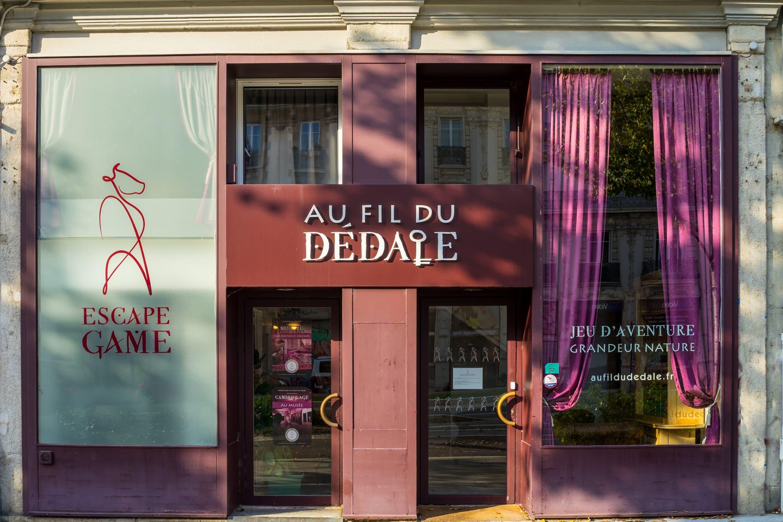 Façade Au fil du dédale - Grenoble - Escape game